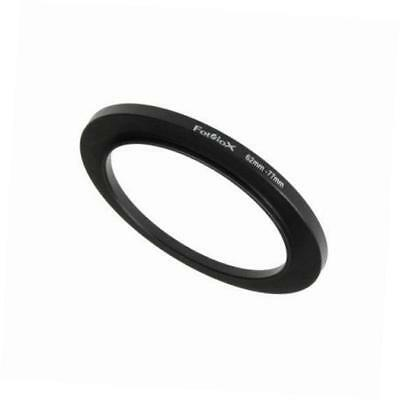 metal step up ring filter adapter, anodized black aluminum 62mm-77mm, 62-77 mm