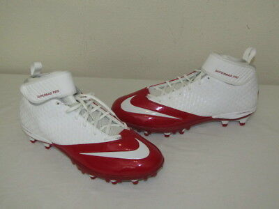 400a06980 NEW Nike Lunar Superbad Pro Football Lacrosse Cleats Red 511334-161 Mens SZ  13.5