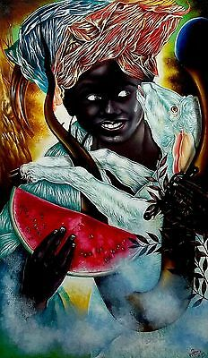 Original Art Painting NINO CORDERO  Oil Canvas  Cuban Art Cuba YOANDRIS PEREZ