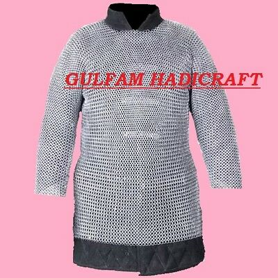 Aluminium Chainmail Shirt Flat Ring Dome Riveted With Solid Ring Xxl-Size