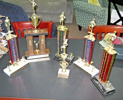 Lot of 6 Vintage MARCHING BAND MAJORETTE Trophies Trophy/Award Parade