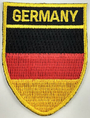 Germany Flag Shield Crest Patch Embroidered Iron On Sew On Applique German