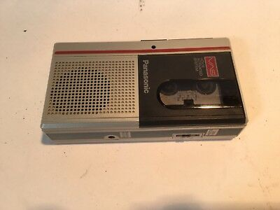 Panasonic RN-185 Dictation Micro cassette Handheld Tape Recorder Tested Gray