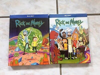 Rick and Morty Seasons 1 and 2 Blu-Ray Bundle Free Shipping!