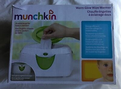 Munchkin Warm Glow Baby Wipe Warmer New In Box #10049