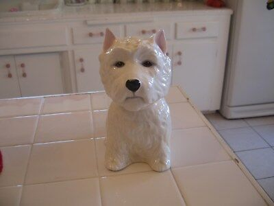 Vintage 1970 Bone China Decanter By Royal Adderly West Highland Terrier Westie
