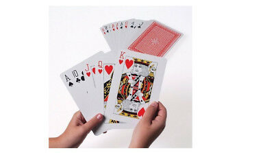 Giant Playing Cards 5 X 7 Inch Huge Extra Large Fun Play Games Big Deck Family
