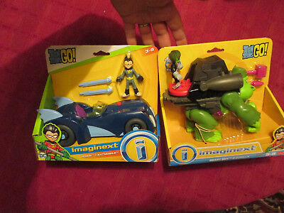 Imaginext Teen Titans Go Batman-Robin /& Batmobile-Brand New in Box