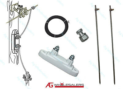 Lightning Diverter Arrestor Kit - Electric Fence Energiser Ground Lightening Rod