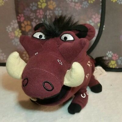 Pumbaa Lion King Theatrical Plush Stuffed Animal Maroon Disney 7""