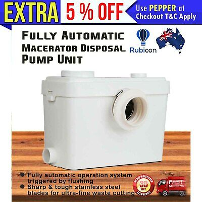 Auto Macerator Sewerage Pump Disposal Unit Toilet Laundry Waste Water Marine