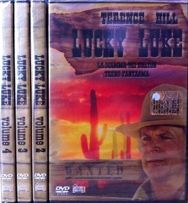 4 DVD Stock Lot LUCKY LUKE complete series with Terence Hill new 1991