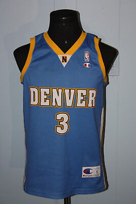 wholesale dealer 31db7 7480f VINTAGE CHAMPION EUROPEAN Denver Nuggets Allen Iverson Blue Jersey S