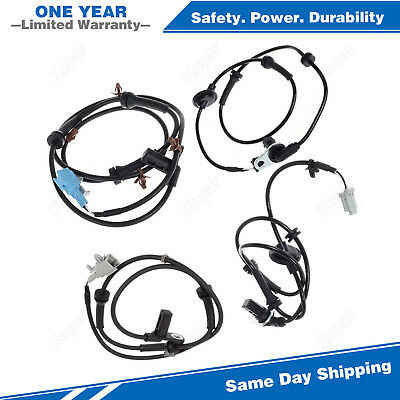 4PCS Front+Rear ABS Wheel Speed Sensor For 04 05 06 07 08 Nissan Maxima 3.5L