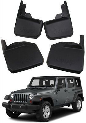 Genuine OEM Splash Guards Mud Guards Mud Flaps Fit For 2007-2018 Jeep Wrangler