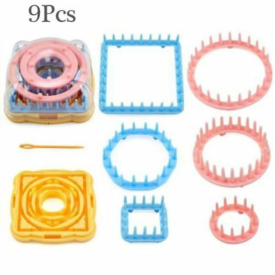 9Pcs/set Wool DIY Crafts Needle Knitting Loom Knit Yarn Daisy Pattern