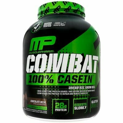MUSCLE PHARM 100% CASEIN 1.8kg 4lbs SLOW RELEASE PROTEIN MP MUSCLEPHARM COMBAT