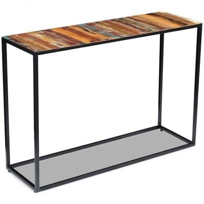 Industrial Console Table Steel Reclaimed Wood Vintage Work Bench Retro Furniture