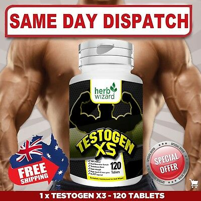 Testogen 5X STRONGEST LEGAL TESTOSTERONE MUSCLE BOOSTER - Aus Stock FAST SHIP!