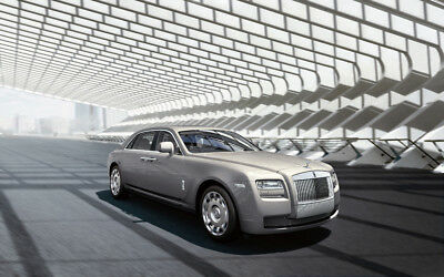 """2011 ROLLS ROYCE GHOST A1 CANVAS PRINT POSTER FRAMED 33.1""""x21.4"""""""