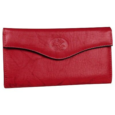 New Buxton Women's Leather Heiress Organizer Clutch Frame Wallet