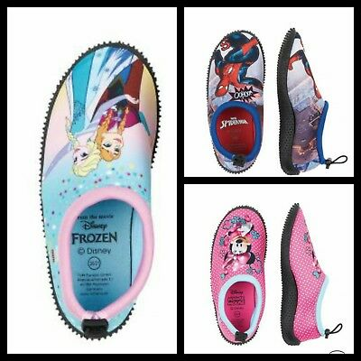Kinder Disney Frozen Spiderman Minnie Mouse Badeschuhe Aquaschuhe Wasserschuhe