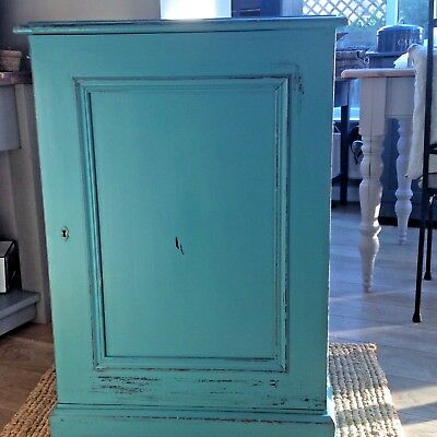 Antique Vintage Solid wooden cupboard with internal draw Hand painted