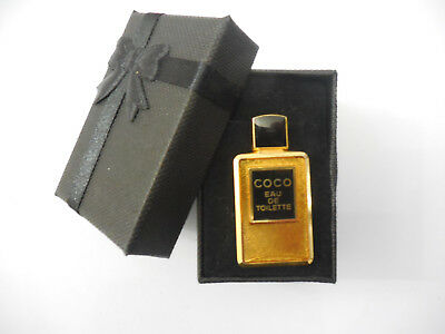 IDEE CADEAU RARE AUTHENTIC COCO CHANEL VINTAGE PIN'S BROCHE signé CHANEL PARFUM