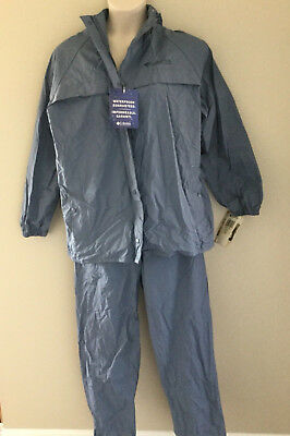 Columbia Ibex Suit Women's Waterproof Jacket Pants Mountain Blue sz Large L NWT