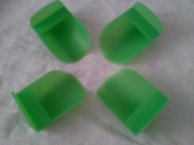 Tupperware New Rocker  Scoop Set Of 4 Translucent Green Scoops