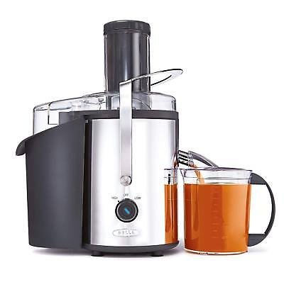 Juice Extractor Machine 800W Electric Fruit Squeezer Stainless with Cup & Brush