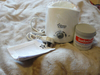 Tommee Tippee electric bottle warmer with Sudocrem