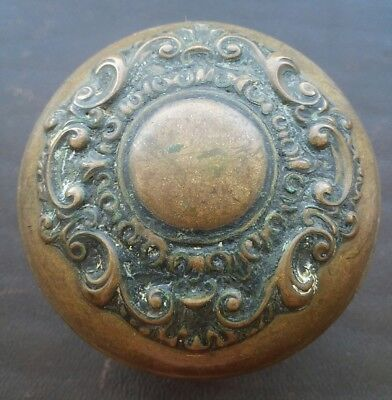 Antique Brass or Bronze Victorian Door Knob - Ornate and Beautiful