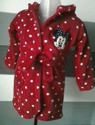 Baby Girls Minnie Mouse Dressing Gown 9-12 months