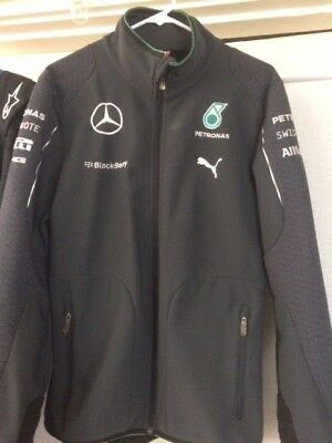 Mercedes Amg Petronas F1 Team Issue Softshell Jacket Mens M Puma
