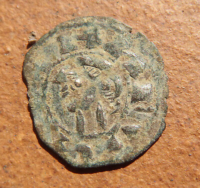 MEDIEVAL SPANISH KNIGHTS TEMPLAR CROSS COIN EUROPEAN CRUSADER 11-12th Century