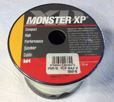 MONSTER Cable XP Navajo White Compact Speaker Wire MiniSpool 30 FT ...