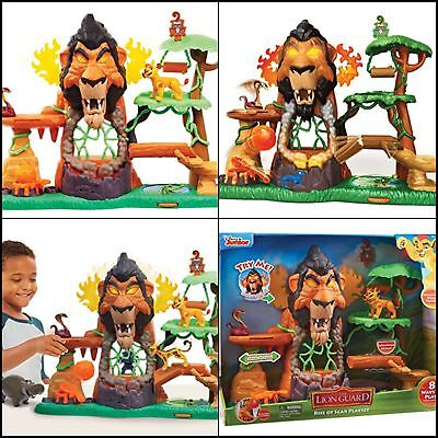 Lion Guard The Rise Of Scar Play Set Features Fun Flame Lights Sounds Pop Out //