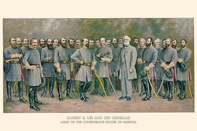 20x30-inch print: Robert E. Lee and His Generals, Civil War, from a 1907 litho