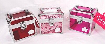 CABOODLES Oh La La Makeup Cosmetic Case Clear Acrylic Organizer Travel Cube Pink