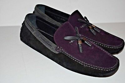 7b171b306e6f Louis Vuitton Men s Suede Driving Loafers Slip On Shoes Size 7.5 US 9  Plum Black