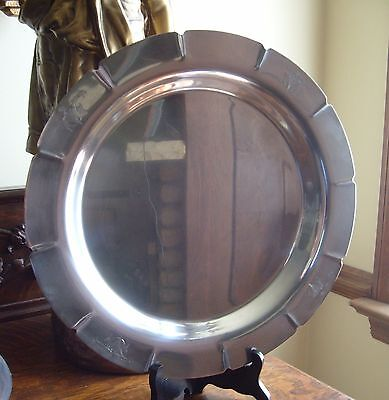 """Wm Rogers Silverplate Tray Charger #5611 Star & Eagle 13-1/4"""""""
