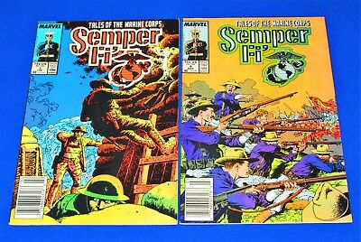Lot of 2 SEMPER FI' Issues 3 and 4 [Marvel 1988] VF/NM or Better!