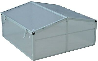 Outsunny 39 In Aluminum Vented Cold Frame Greenhouse