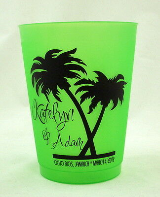 150 - 16 oz. Frost Flex Personalized Custom Cups - Wedding, Beach, Party, Beer