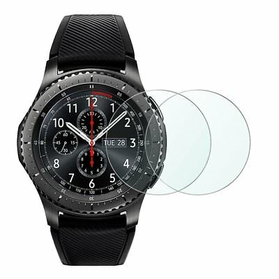 Gear S3 Screen Protector, Wimaha 2 Pack Tempered Glass Screen Protector for Gear