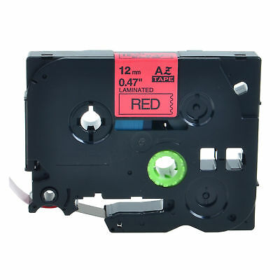 """TZ431 TZe431 Black on Red Label Tape for Brother P-touch PT-D200 12mm 1/2"""""""