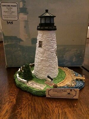 Harbour Lights #186 Concord Point Maryland Lighthouse 1996 Signed