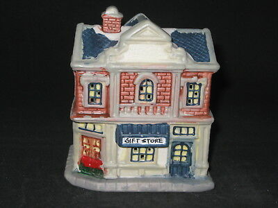 Porcelain Christmas Village - Gift Store - FREE Shipping