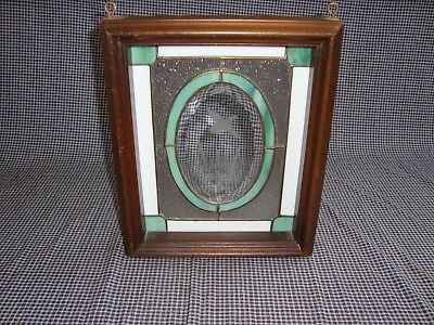 Framed Stained Glass Window Birding, Hunting, Nature Motif